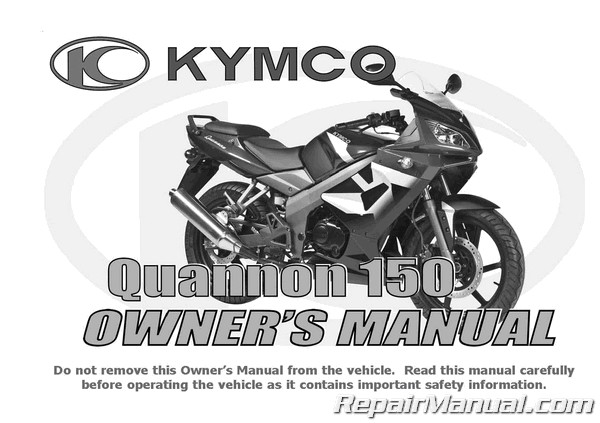 kymco quannon owners manual