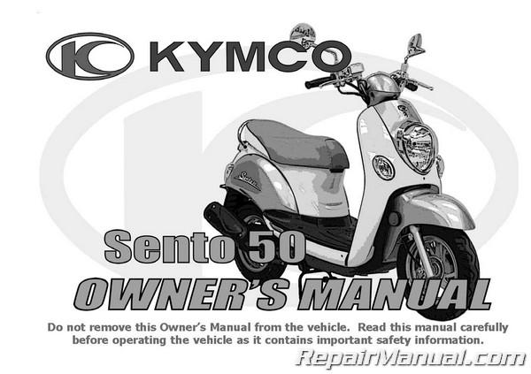 kymco sento owners manual