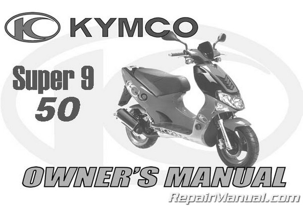kymco super 9 50 service motorcycle repair service manual