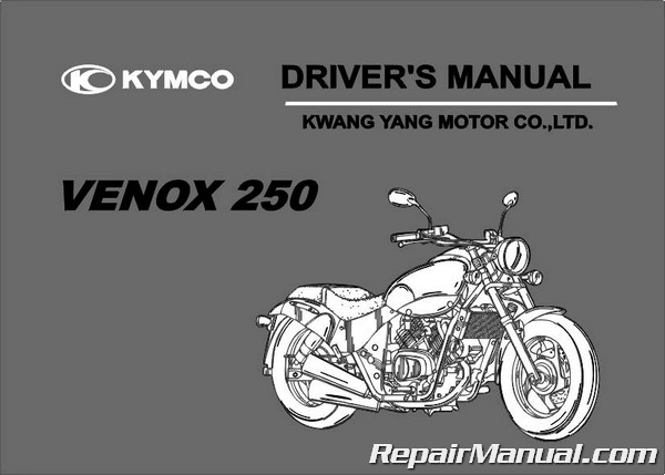 Kymco Venox 250 Scooter Owners Manual