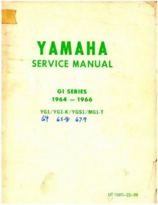 Yamaha G1 Manual 1964-1966 Motorcycle Repair