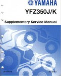 Official 2000-2001 Yamaha YFZ350 Factory Service Manual Supplement
