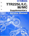 Used Official 1999 Yamaha TTR225L LC M MC Service Manual Supplement