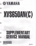 Official 2003 Yamaha XVS650 Service Manual Supplement