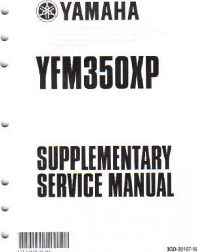 2004 yamaha yfm350xs warrior manual supplement. Black Bedroom Furniture Sets. Home Design Ideas