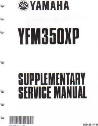 Used Official 2004 Yamaha YFM350XS Warrior Factory Manual Supplement