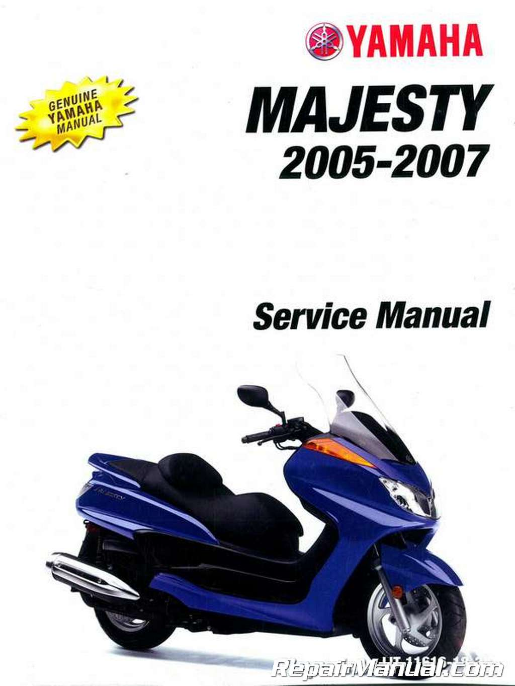 2005 2007 yamaha majesty scooter yp400t yp400v yp400w for Yamaha water scooter