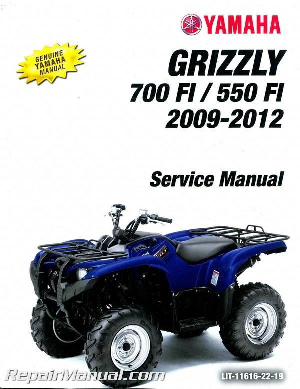 2009 2011 yamaha yfm550fi yfm700fi grizzly utility atv service manual rh repairmanual com Yamaha ATV 700 2012 Yamaha ATV 700 2012