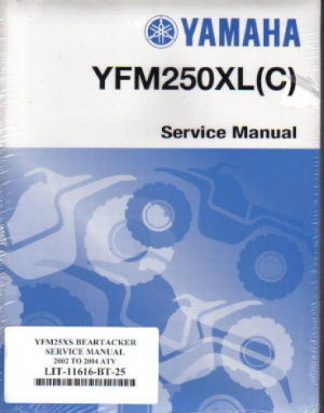 Official 2001-2004 Yamaha YFM250 Beartracker ATV Factory Service Manual