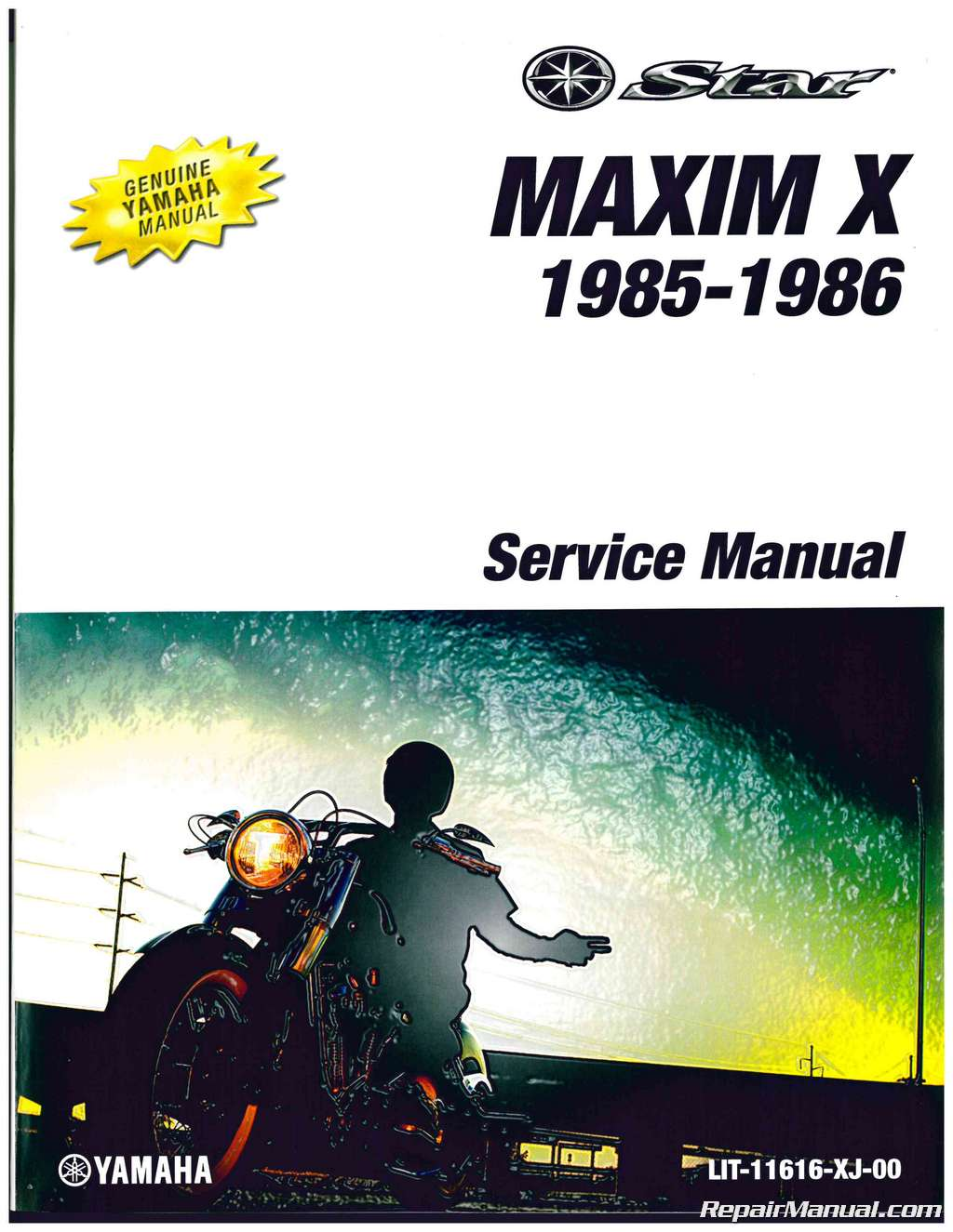 Yamaha Breeze Manual Lx210 Wiring Diagram Array 1985 1986 Xj700x Maxim X Motorcycle Service Rh Repairmanual