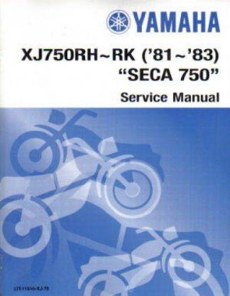Official 1981-1983 Yamaha XJ750R Seca Factory Service Manual