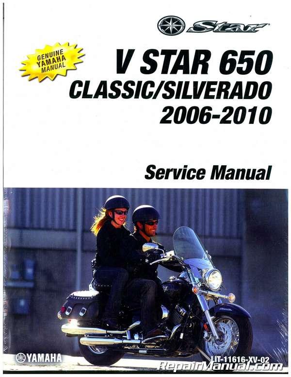 2006 2010 yamaha xvs650 v star classic motorcycle service manual rh repairmanual com Yamaha XV750 2013 Yamaha XVS650