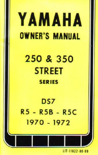 1970-1972 Yamaha DS7 R5 R5B R5C Owner Manual