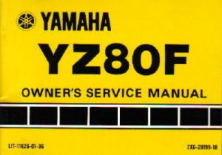 Official 1979 Yamaha YZ80F Owners Manual
