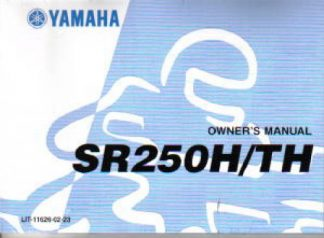 Official 1981 Yamaha SR250TH Motorcycle Factory Owners Manual