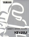 Used Official 1982 Yamaha YZ125J Factory Service Manual