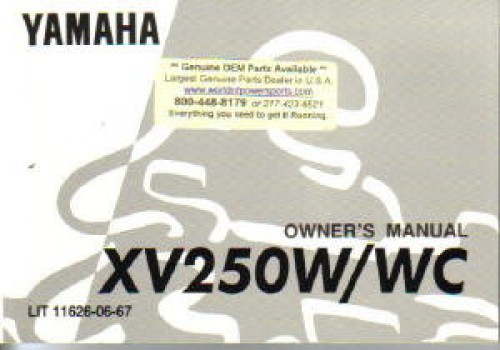 1989 yamaha xv250w wc route 66 virago motorcycle owners manual rh repairmanual com Route 66 Attractions Route 66 Attractions
