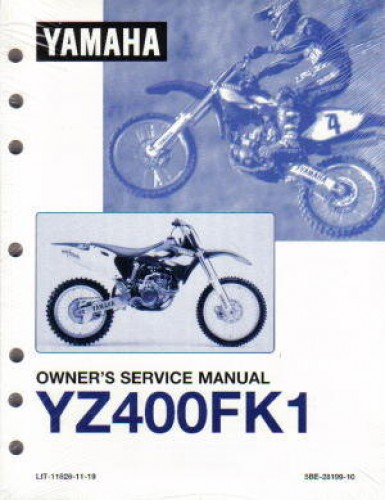 Official 1998 Yamaha YZ400FK1 Factory Owners Service Manual