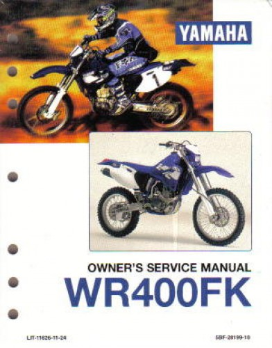 1998 1999 yamaha wr400 motorcycle service manual. Black Bedroom Furniture Sets. Home Design Ideas