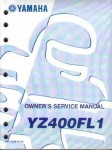 Official 1999 Yamaha YZ400FL Factory Owners Service Manual