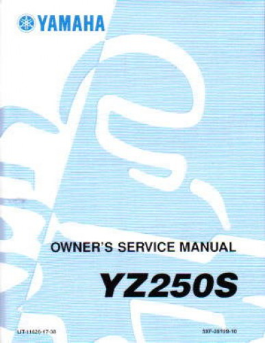 2004 yamaha yz250s1 motorcycle owners service manual. Black Bedroom Furniture Sets. Home Design Ideas