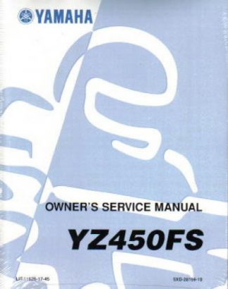 Used 2004 Yamaha YZ450FS Motorcycle Factory Owners Service Manual
