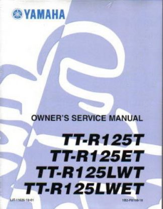 Official 2008 Yamaha TTR125 Factory Service Manual