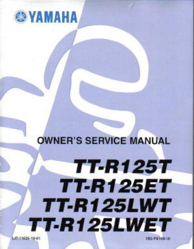 2008 yamaha ttr125 service manual. Black Bedroom Furniture Sets. Home Design Ideas