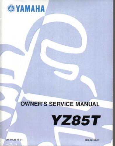 2005 yamaha yz85 motorcycle owners service manual rh repairmanual com 2008 YZ85 2004 yz85 owners manual
