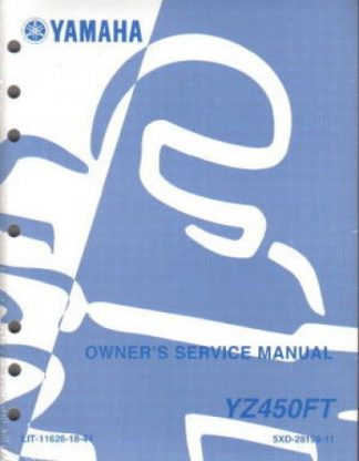 Used 2005 Yamaha YZ450FT Motorcycle Factory Owners Service Manual
