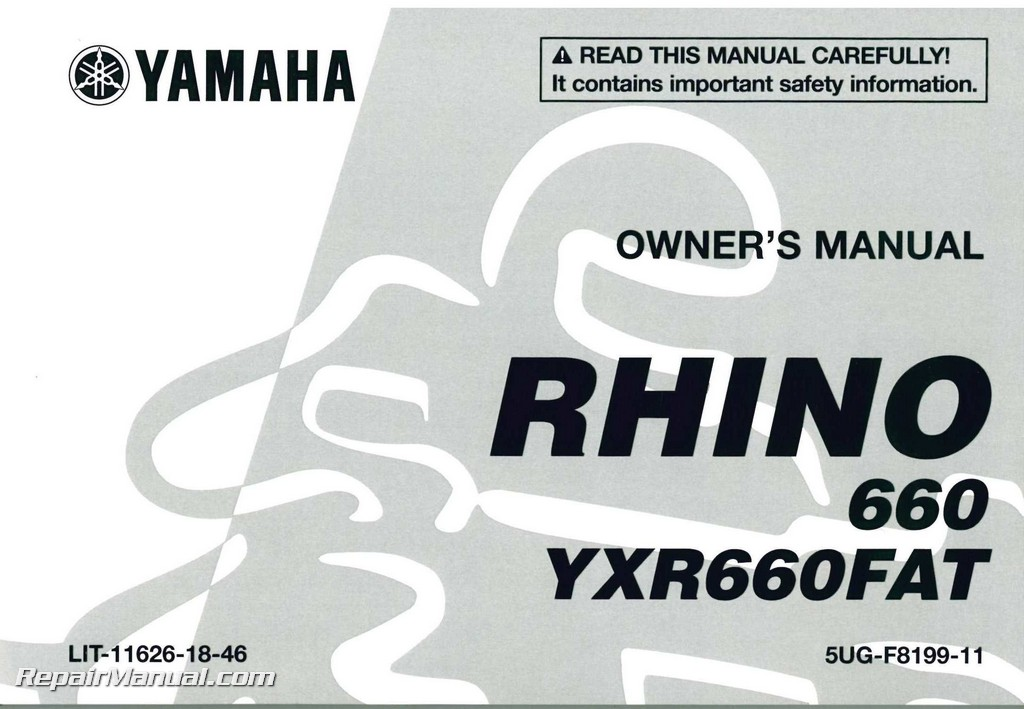 Yamaha Owners Manual Lit