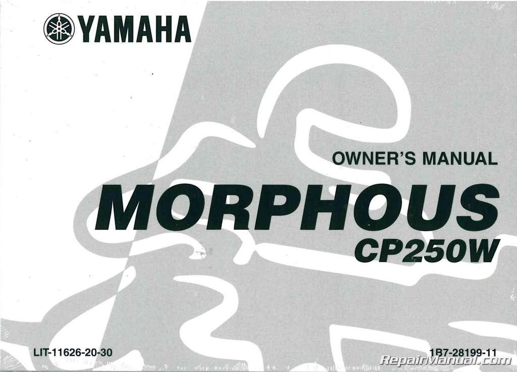 Yamaha Morphous Owners Manual