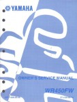 Official 2006 Yamaha WR450F Motorcycle Factory Owners Service Manual