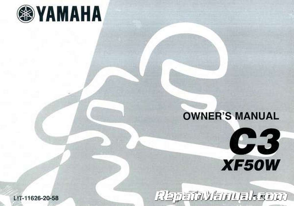 2007 Yamaha C3 Scooter XF50W Owners Manual