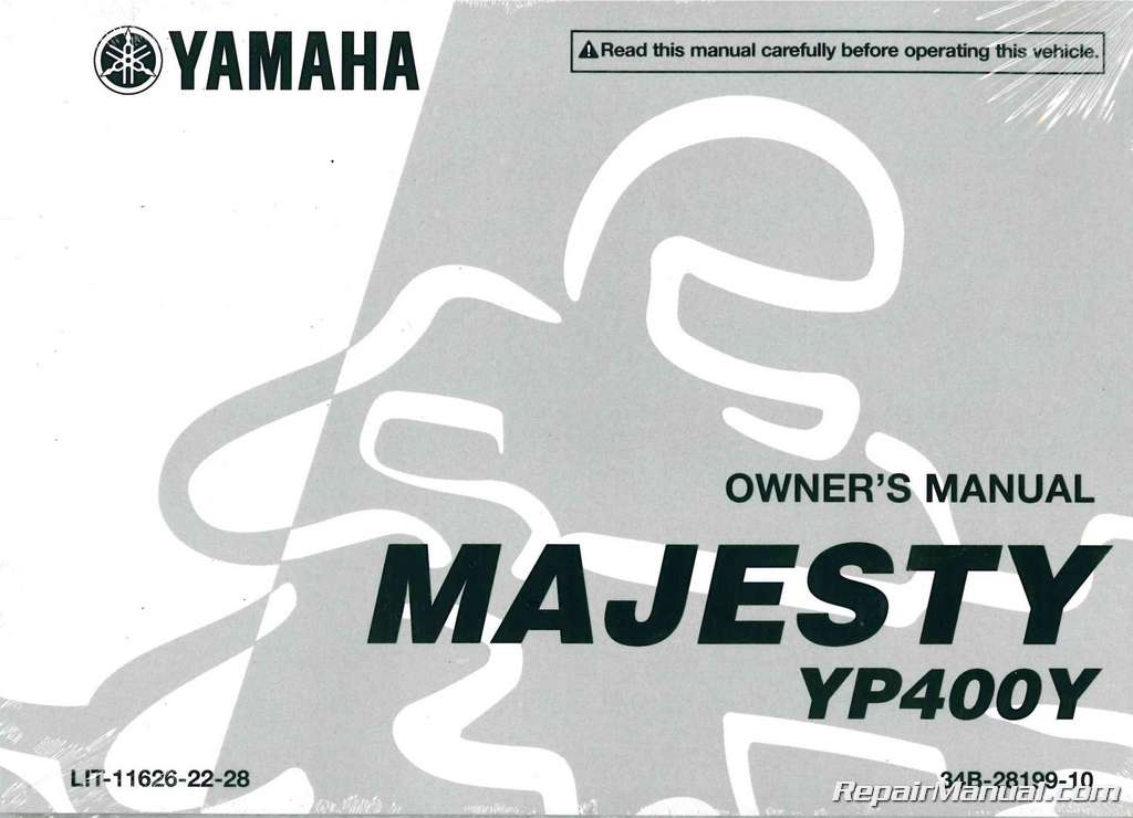 2009 yamaha yp400 majesty scooter owners manual rh repairmanual com yamaha majesty owners manual download yamaha majesty 125 service manual pdf