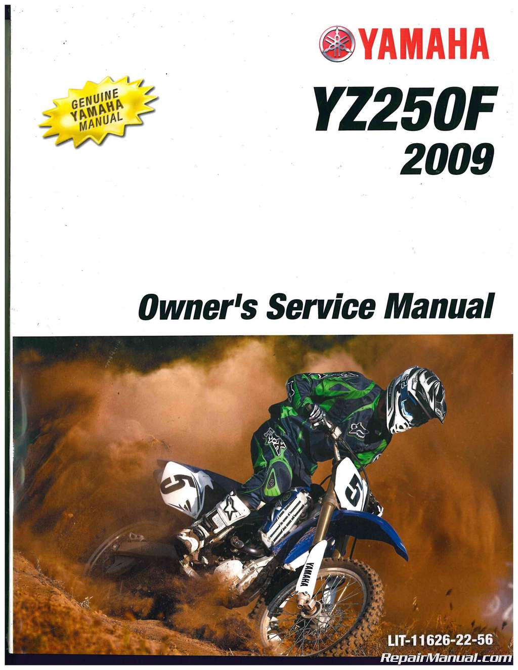 2009 yamaha yz250f owners motorcycle service manual rh repairmanual com 2009 yamaha yz 250 f service manual pdf 2009 yamaha yz250 service manual