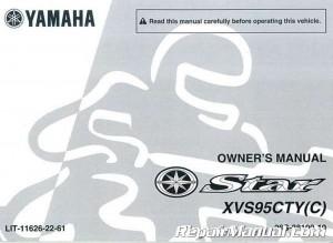 Yamaha V Star Tourer Pdf Owners Manual