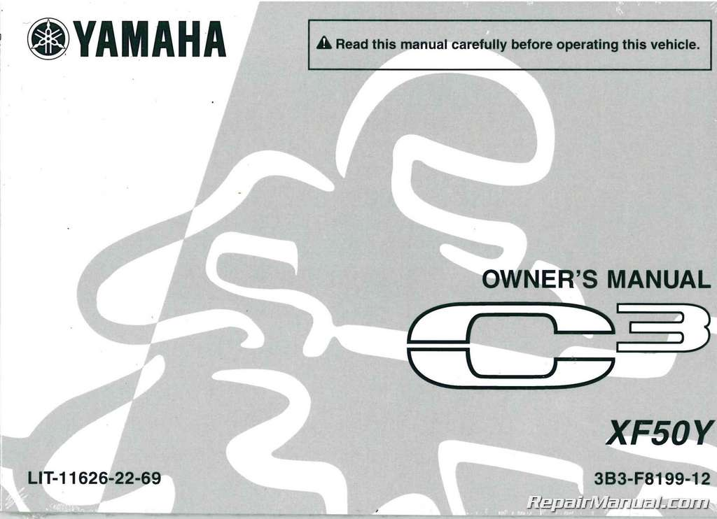 2009 yamaha c3 scooter xf50y owners manual rh repairmanual com yamaha c3 manual pdf Yamaha C3 Piano