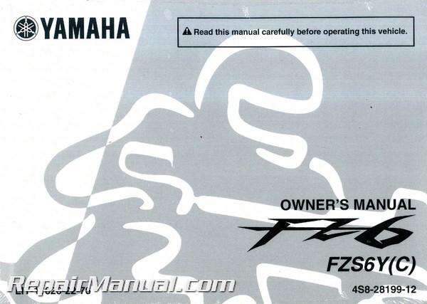 2009 yamaha fz6 service manual