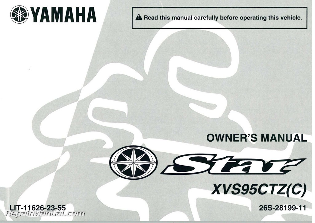 2010 yamaha xvs950 v star tourer motorcycle owners manual rh repairmanual com yamaha v star 950 owners manual 2009 yamaha v star 1100 owners manual download