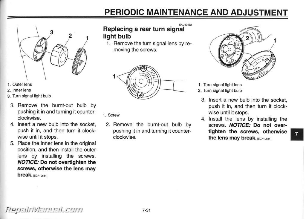 Yamaha V Star Tourer Owners Manual