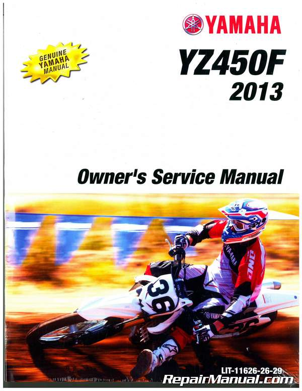 2013 yamaha yz450f motorcycle owners service manual. Black Bedroom Furniture Sets. Home Design Ideas