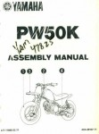 Used Official 1998 Yamaha PW50K Assembly Manual