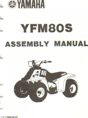 1986 yamaha yfm80s moto 4 assembly manual. Black Bedroom Furniture Sets. Home Design Ideas