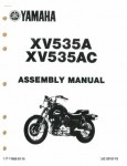 Used Official 1990 Yamaha XV535A AC Assembly Manual