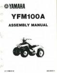 Used Official 1990 Yamaha YFM100A Assembly Manual