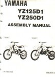 Official 1992 Yamaha YZ125D1 YZ250D1 Assembly Manual