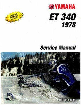 Official 1978 Yamaha Enticer ET340 Snowmobile Factory Service Manual