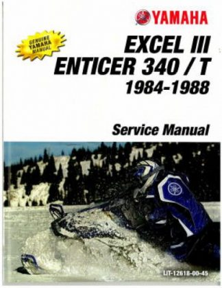 Official 1984-1988 Yamaha Enticer 340/T ET340 And Excel III EC340 Snowmobile Factory Service Manual