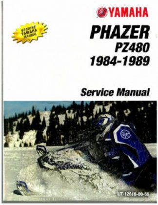 Official 1984-1989 Yamaha Phazer PZ480 Snowmobile Factory Service Manual